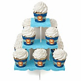 Lion Boy - Baby Shower Cupcake Stand & 13 Cupcake Wrappers