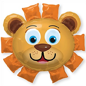 Lion - Super Shaped Mylar Baby Shower Balloon