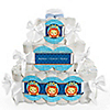 Lion Boy - Personalized Baby Shower Square Diaper Cakes - 3 Tier