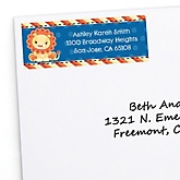 Lion Boy - Personalized Baby Shower Return Address Labels - 30 ct