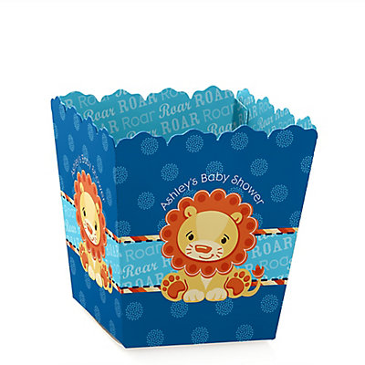 lion boy personalized baby shower candy boxes bigdotofhappiness