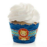 Lion Boy - Baby Shower Cupcake Wrappers & Decorations