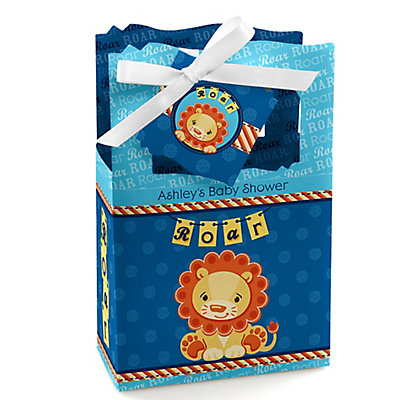Lion Boy - Personalized Baby Shower Favor Boxes...