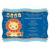 Lion Boy - Baby Shower Invitations