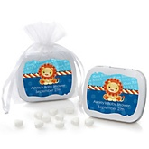 Lion Boy - Mint Tin Personalized Baby Shower Favors