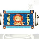Lion Boy - Personalized Baby Shower Placemats