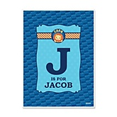 Lion Boy - Personalized Baby Shower Poster Gifts