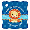 Lion Boy - Personalized Baby Shower Tags - 20 ct