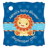 Lion Boy - Personalized Baby Shower Tags - 20 Count