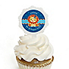 Lion Boy - Personalized Birthday Party Cupcake Pick and Sticker Kit - 12 ct