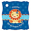 Lion Boy - Personalized Birthday Party Tags - 20 ct