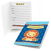Lion Boy - Fill In Baby Shower Invitations - Set of  8