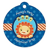Lion Boy - Personalized Baby Shower Round Tags - 20 Count