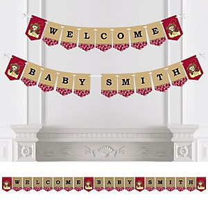 Little Cowboy - Western Personalized Baby Shower Bunting Banner