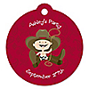 Little Cowboy - Round Personalized Party Tags - 20 ct