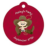 Little Cowboy - Personalized Baby Shower Round Tags - 20 Count