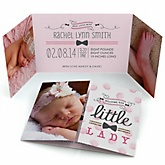 Darling Little Lady - Photo Birth Announcements