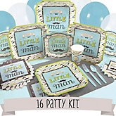 Dashing Little Man Mustache Party - 16 Person Baby Shower Kit