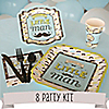 Dashing Little Man Mustache Party - 8 Person Baby Shower Party Kit