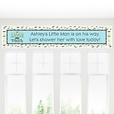 Dashing Little Man Mustache Party - Personalized Baby Shower Banner