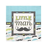 Dashing Little Man Mustache Party - Baby Shower Beverage Napkins - 16 Pack