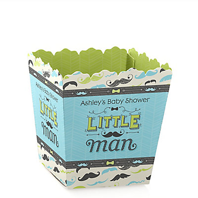 dashing little man mustache party personalized baby shower candy