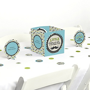 Dashing Little Man Mustache Party - Baby Shower Centerpiece & Table Decoration Kit
