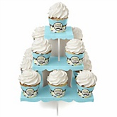 Dashing Little Man Mustache Party - Baby Shower Cupcake Stand & 13 Cupcake Wrappers