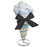 Dashing Little Man Mustache Party - Baby Shower Diaper Bouquets