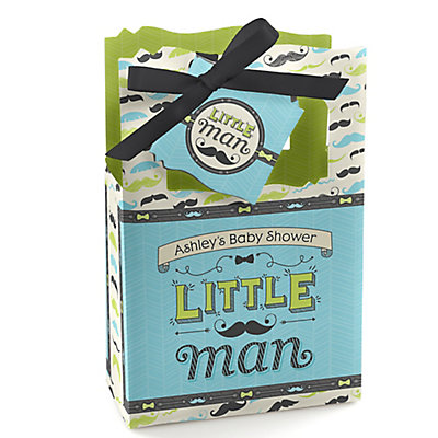 Dashing Little Man Mustache Party - Personalized Baby Shower...
