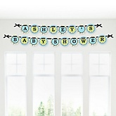 Dashing Little Man Mustache Party - Personalized Baby Shower Garland Banner