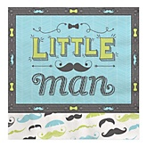 Dashing Little Man Mustache Party - Baby Shower Luncheon Napkins - 16 Pack