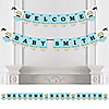 Dashing Little Man Mustache Party - Personalized Party Bunting Banner