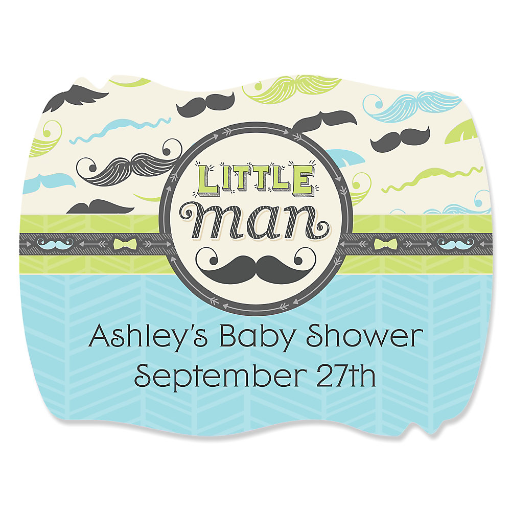 dashing little man mustache party personalized baby shower loading