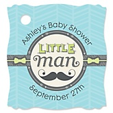 Dashing Little Man Mustache Party - Personalized Baby Shower Tags - 20 Count