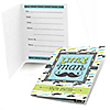Dashing Little Man Mustache Party - Birthday Party Fill In Invitations - 8 ct