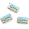 Dashing Little Man Mustache Party - Personalized Birthday Party Mini Candy Bar Wrapper Favors - 20 ct