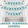 Dashing Little Man Mustache Party - Personalized Birthday Party Bunting Banner & Decorations