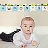 Dashing Little Man Mustache Party - 12 Month by Month Photo Banner for Baby's First Year - Monthly Photo Prop