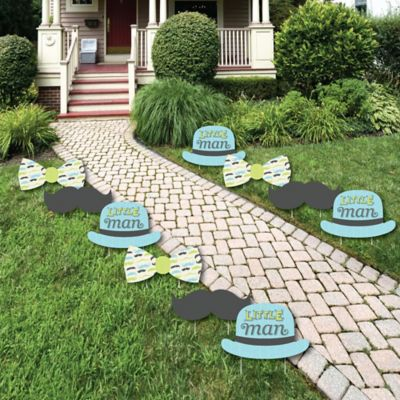 Dashing Little Man Mustache Party   Lawn Decorations   Outdoor Baby Shower  Or Birthday Party Yard