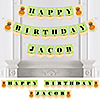 Little Pumpkin African American - Personalized Birthday Party Bunting Banner