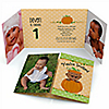 Little Pumpkin African American - Personalized Fall Birthday Party Photo Invitations