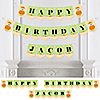 Little Pumpkin Caucasian - Personalized Birthday Party Bunting Banner