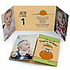 Little Pumpkin Caucasian - Personalized Fall Birthday Party Photo Invitations