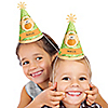 Little Pumpkin Caucasian - Personalized Cone Birthday Party Hats - 8 ct