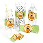 Little Pumpkin Caucasian - Do It Yourself Baby Shower Wrappers - 15 Count