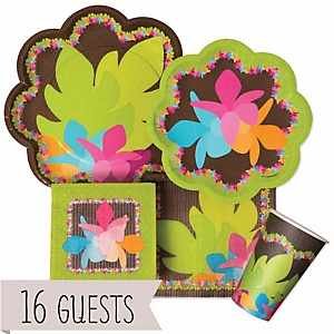 Luau - Baby Shower Tableware Bundle for 16 Guests