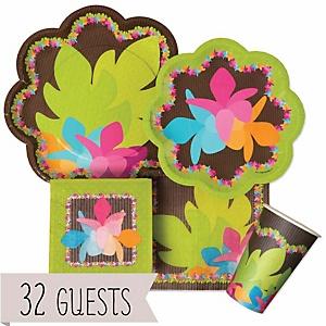Luau - Baby Shower Tableware Bundle for 32 Guests
