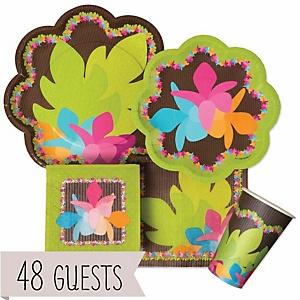 Luau - Baby Shower Tableware Bundle for 48 Guests