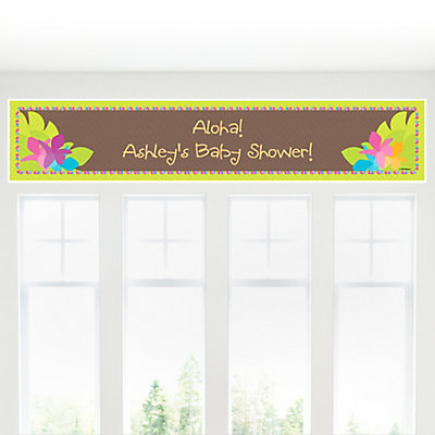 Luau Baby Shower personalized Banner decoration